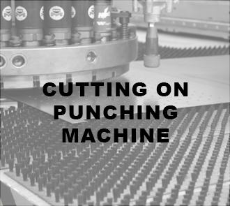 Cutting on punching machine