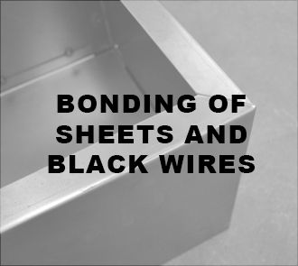 BONDING OF SHEETS AND BLCK WIRES
